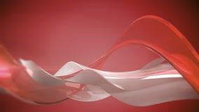 红色3D摘要波浪 库存图片