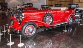 红色1930年Duesenberg 免版税图库摄影