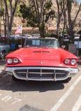 红色1963年Ford Thunderbird 免版税图库摄影