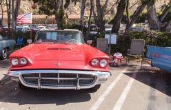 红色1963年Ford Thunderbird 图库摄影