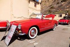 红色1964 VW Karmann吉阿 库存图片