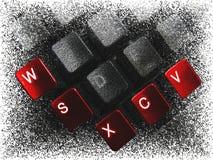 红色2个的按钮 免版税库存照片