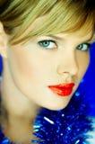 红色2片的嘴唇 库存照片