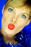 红色2片的嘴唇 免版税库存图片