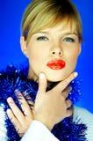 红色2片的嘴唇 图库摄影
