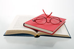 红色4本的蓝皮书 免版税库存图片