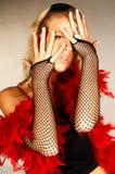 红色4根的羽毛 库存照片