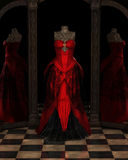 红色Ballgown反射 免版税图库摄影
