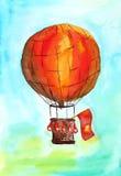 红色baloon 免版税库存照片