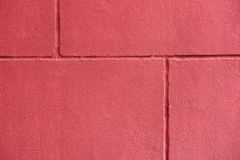 红色brickwall纹理  库存图片