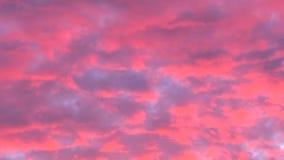 红色cloudscape日落关闭 股票录像