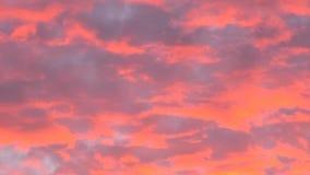 红色cloudscape日落 股票录像