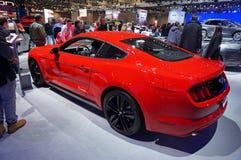 红色Ford Mustang 免版税图库摄影