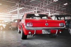 1966红色Ford Mustang 免版税图库摄影
