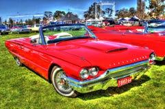 1964红色Ford Thunderbird 免版税图库摄影