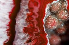 红色Geode宏指令 免版税库存图片