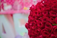 红色handread玫瑰 库存照片