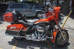 红色Harley 图库摄影