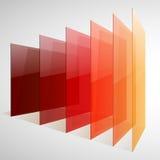 红色Infographics 3d的透视,桔子和黄色 免版税库存照片