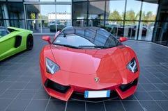 红色Lamborghini 免版税库存图片
