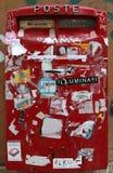 红色letterbox 免版税图库摄影