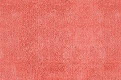红色microfiber纹理 库存图片