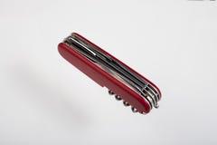 红色multitool闭合的刀子 库存图片