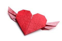 红色origami重点 库存图片