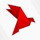 红色origami鸟 免版税库存照片