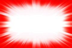 红色starburst爆炸边界 图库摄影