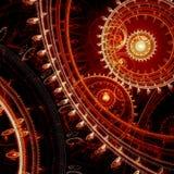 红色steampunk背景 免版税库存照片