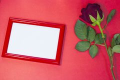 红色StValentine的背景 免版税库存照片