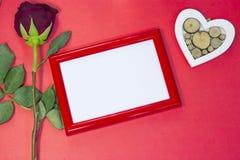 红色StValentine的背景 免版税库存图片