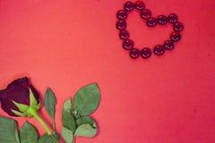 红色StValentine的背景 库存图片