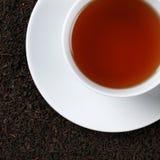 红茶从上面 免版税库存照片