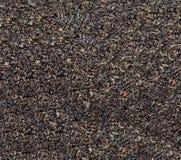 红茶宽松干茶叶, marco 免版税图库摄影