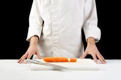 红萝卜主厨剪切 库存图片