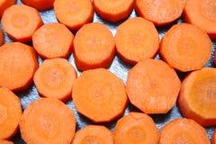 红萝卜切好的片式 免版税库存图片