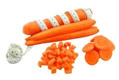 红萝卜和米 免版税库存照片