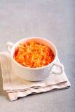 红萝卜和苹果沙拉 库存图片