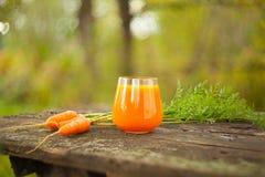 从红萝卜和苹果的开胃汁液 库存照片