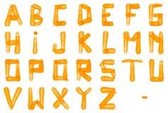 红萝卜字母表字体 库存图片