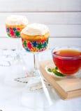 红萝卜杯形蛋糕 图库摄影