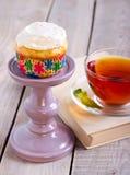 红萝卜杯形蛋糕 库存照片
