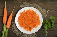 红萝卜沙拉和新鲜的红萝卜 库存照片