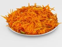 红萝卜沙拉 免版税库存照片