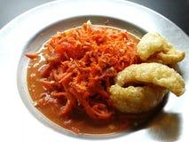 红萝卜泰国沙拉 免版税库存照片