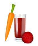 红萝卜甜菜根汁 库存图片