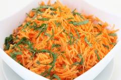 从红萝卜的沙拉 免版税库存照片