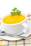 红萝卜纯汁浓汤 库存照片